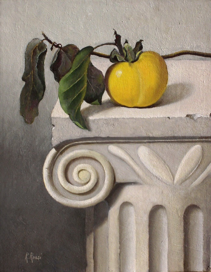 2004 roberta rossi - Caco su capitello - olio su tela - 24 x 18