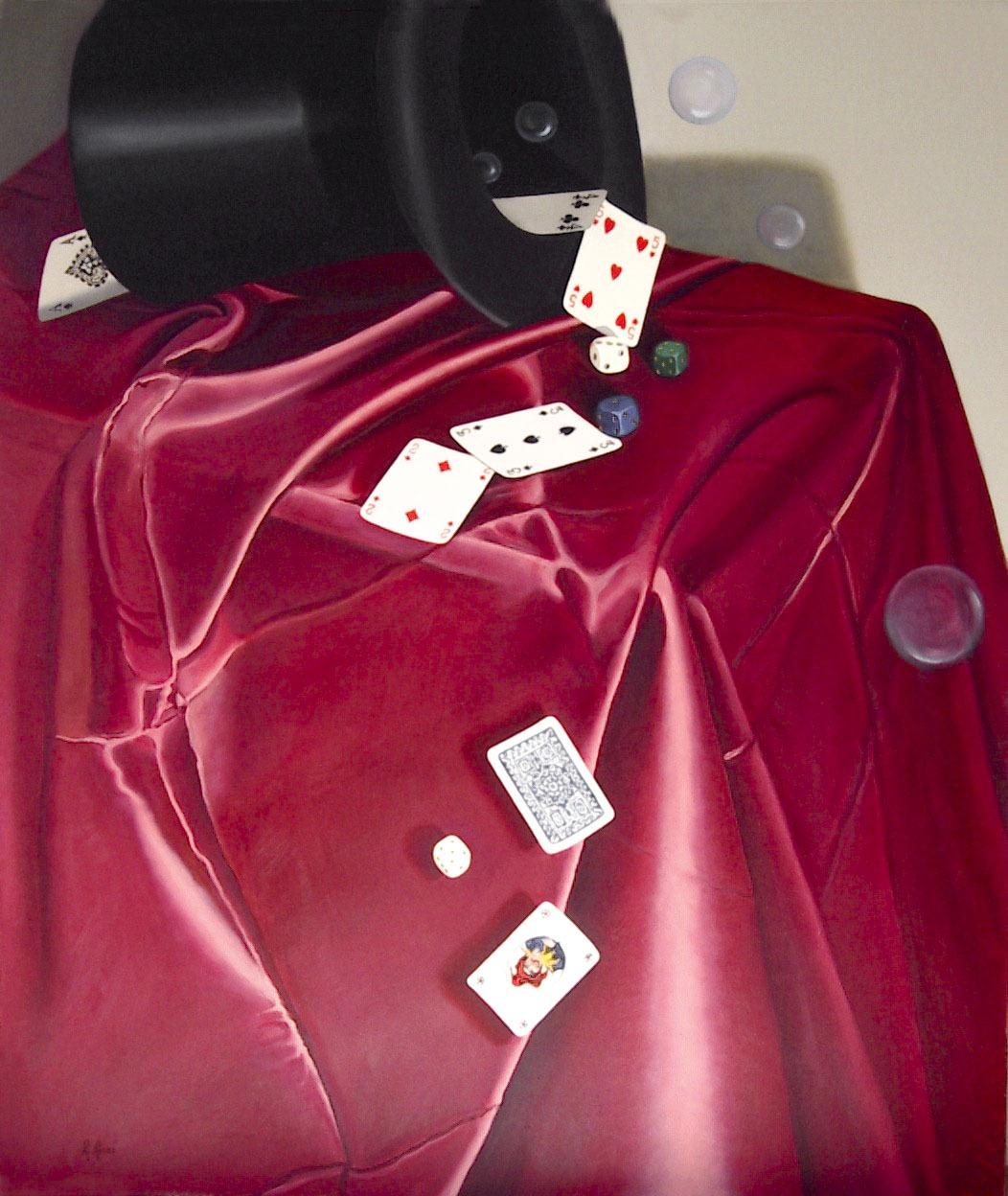 2004 roberta rossi - Magia del gioco - olio su tela - 60 x 70