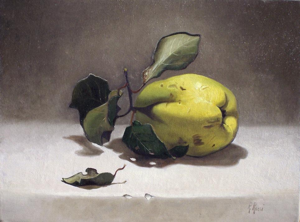 2004 roberta rossi - Mela Cotogna - olio su tela - 18 x 24