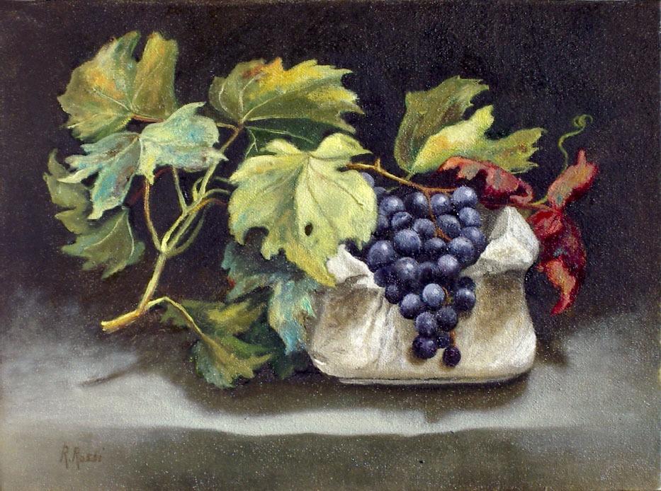 2004 roberta rossi - Uva nel mortaio - olio su tela - 18 x 24