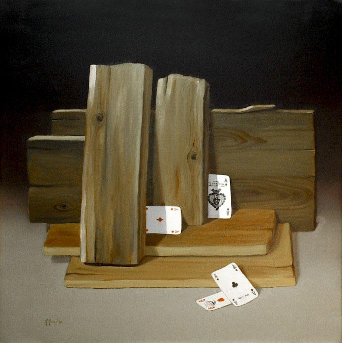 2005 roberta rossi - Assi e Assi II - olio su tela - 50 x 50