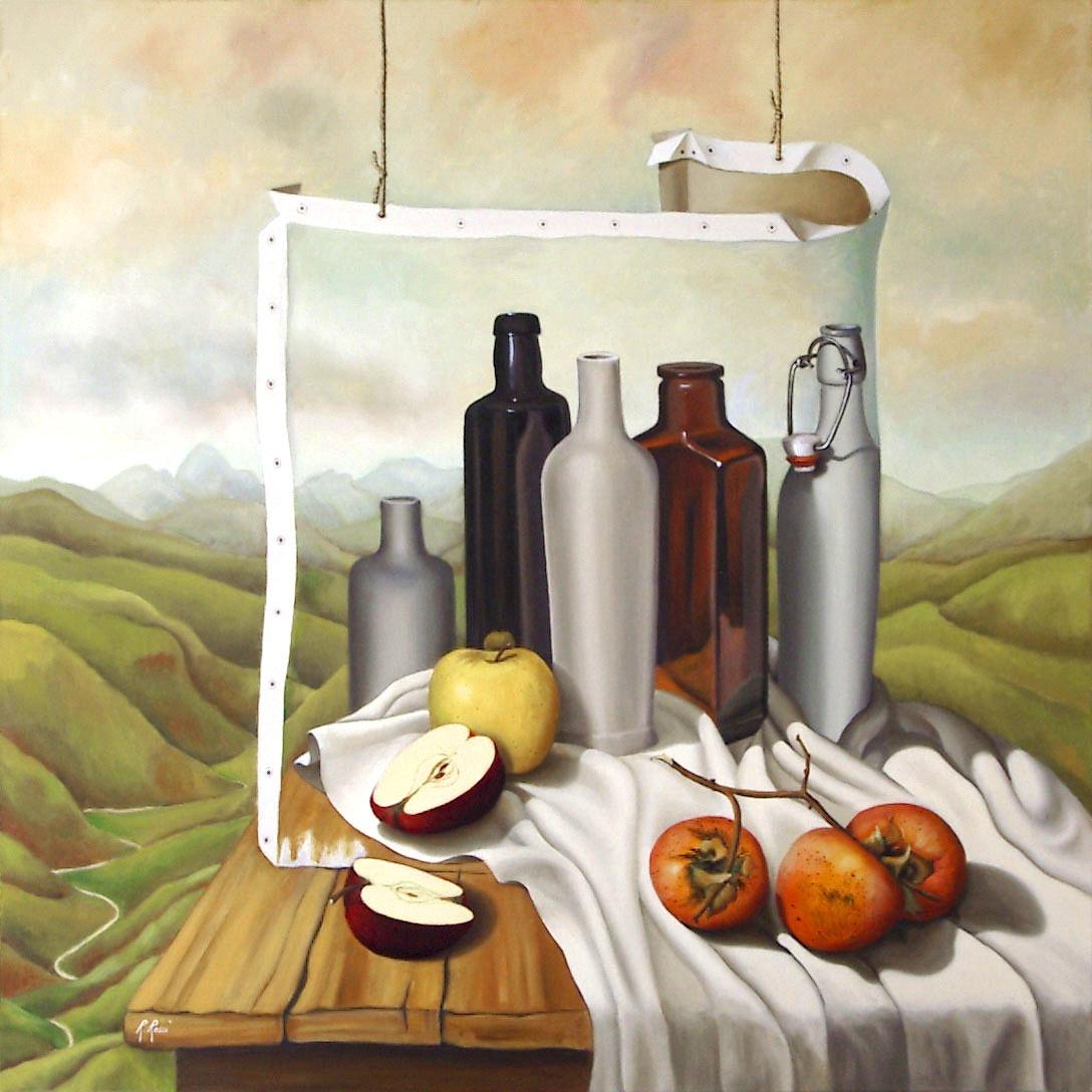 2005 roberta rossi - Compenetrazione - olio su tela - 70 x 70