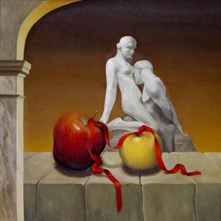 2005 roberta rossi - Idillio - olio su tela - 60 x 60