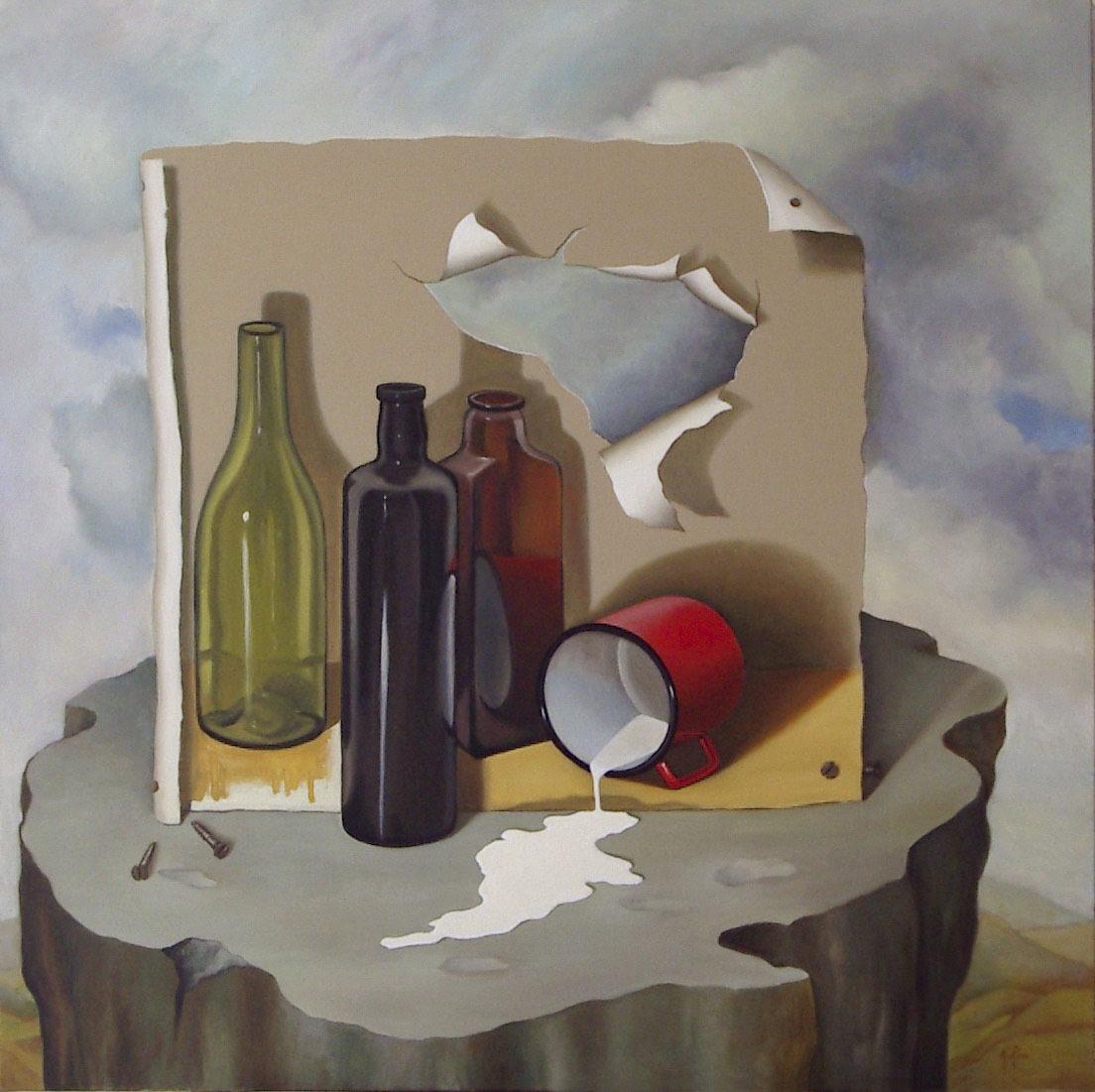 2005 roberta rossi - Il latte versato - olio su tela - 70 x 70
