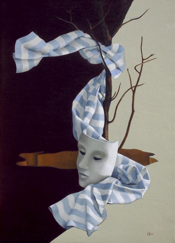 2005 roberta rossi - La Maschera Della Vita - olio su tela - 70 x 50