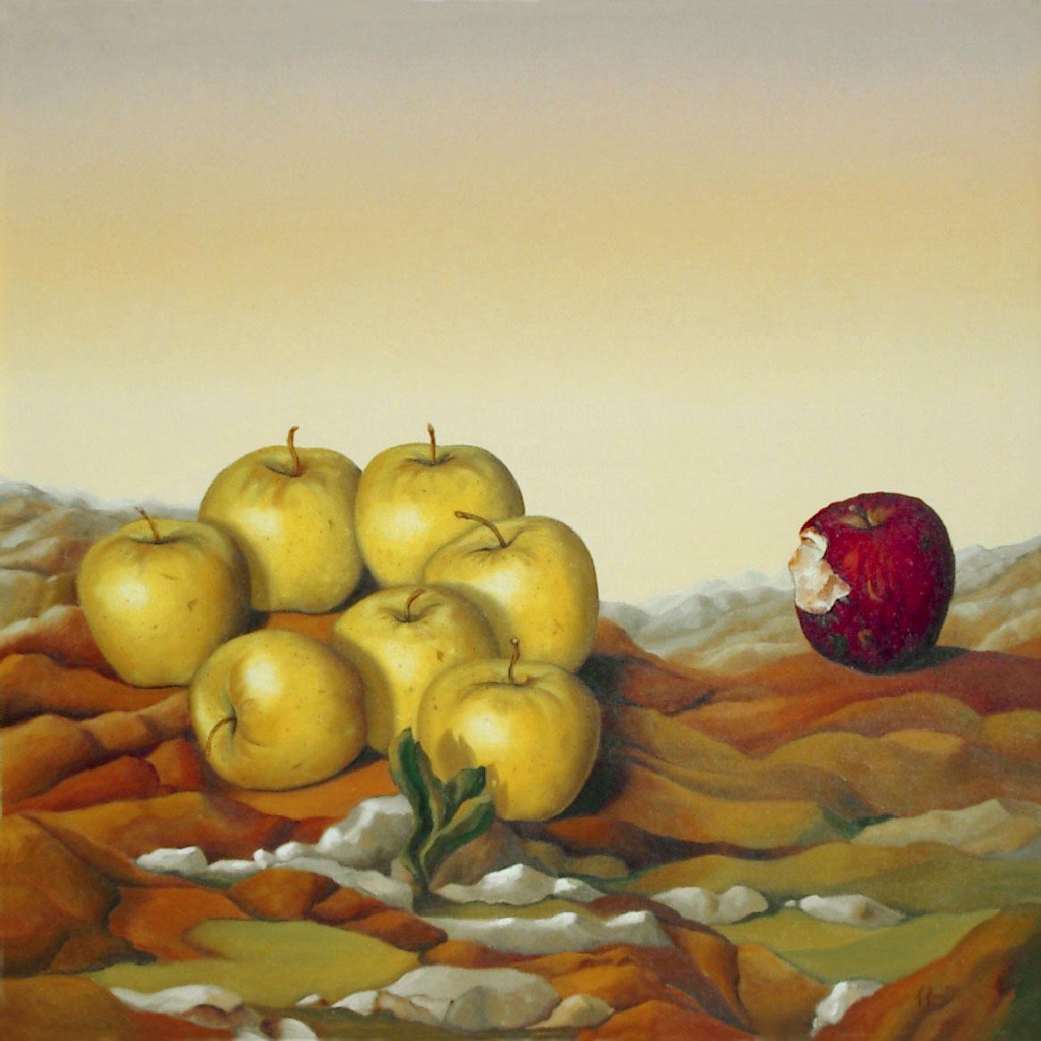 2005 roberta rossi - L'esclusa - olio su tela - 60 x 60