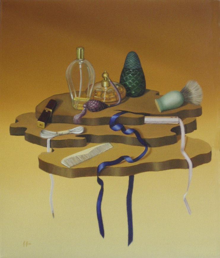 2005 roberta rossi - Nastri e profumi - olio su tela - 60 x 50