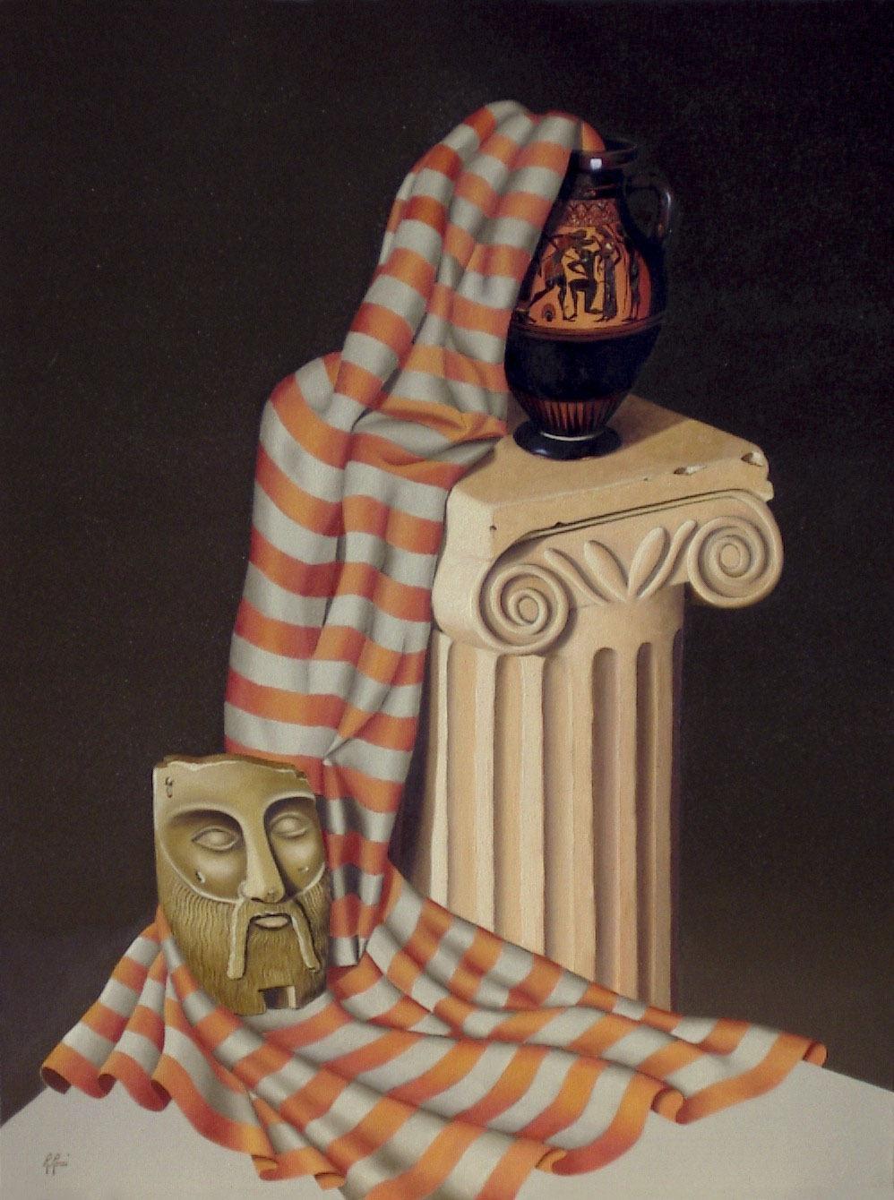 2005 roberta rossi - Teseo uccide il minotauro - olio su tela - 80 x 60