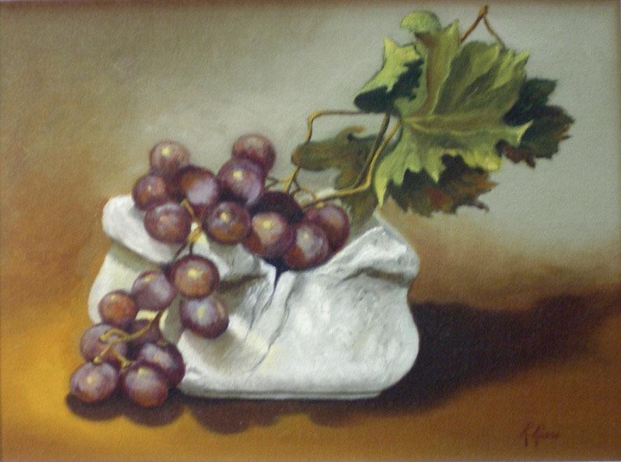 2005 roberta rossi - Uva Rossa Pestello - olio su tela - 18 x 24