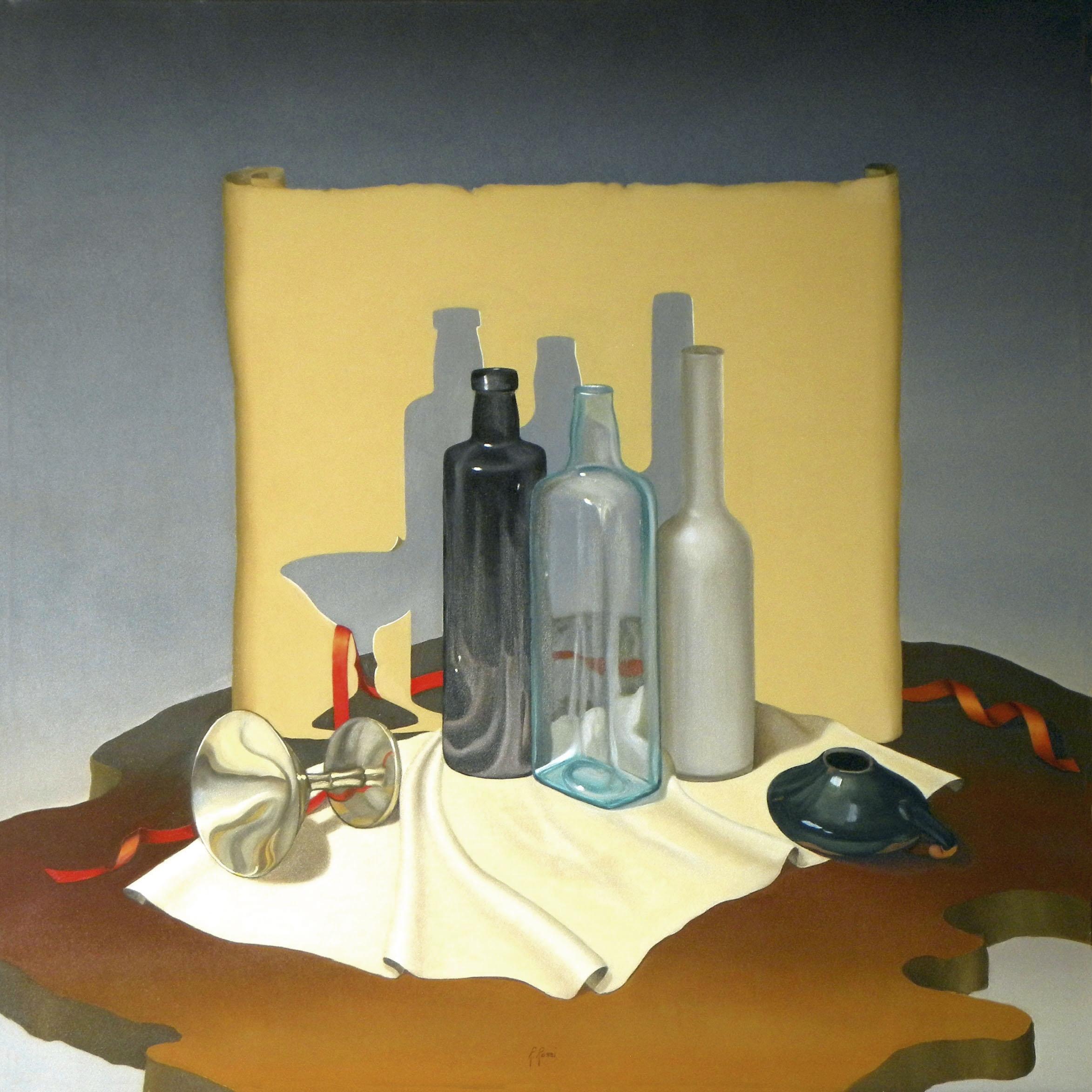 2006 roberta rossi - La coppa rovesciata - olio su tela - 70 x 70