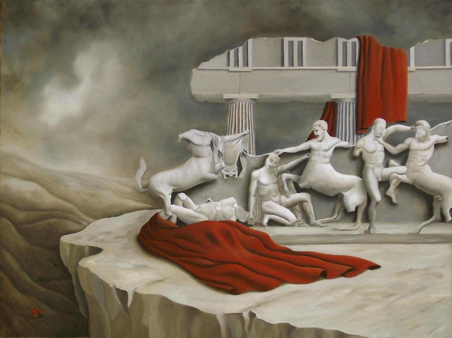 2006 roberta rossi – Lotta Centauri e Lapiti – olio su tela – 60 x 80