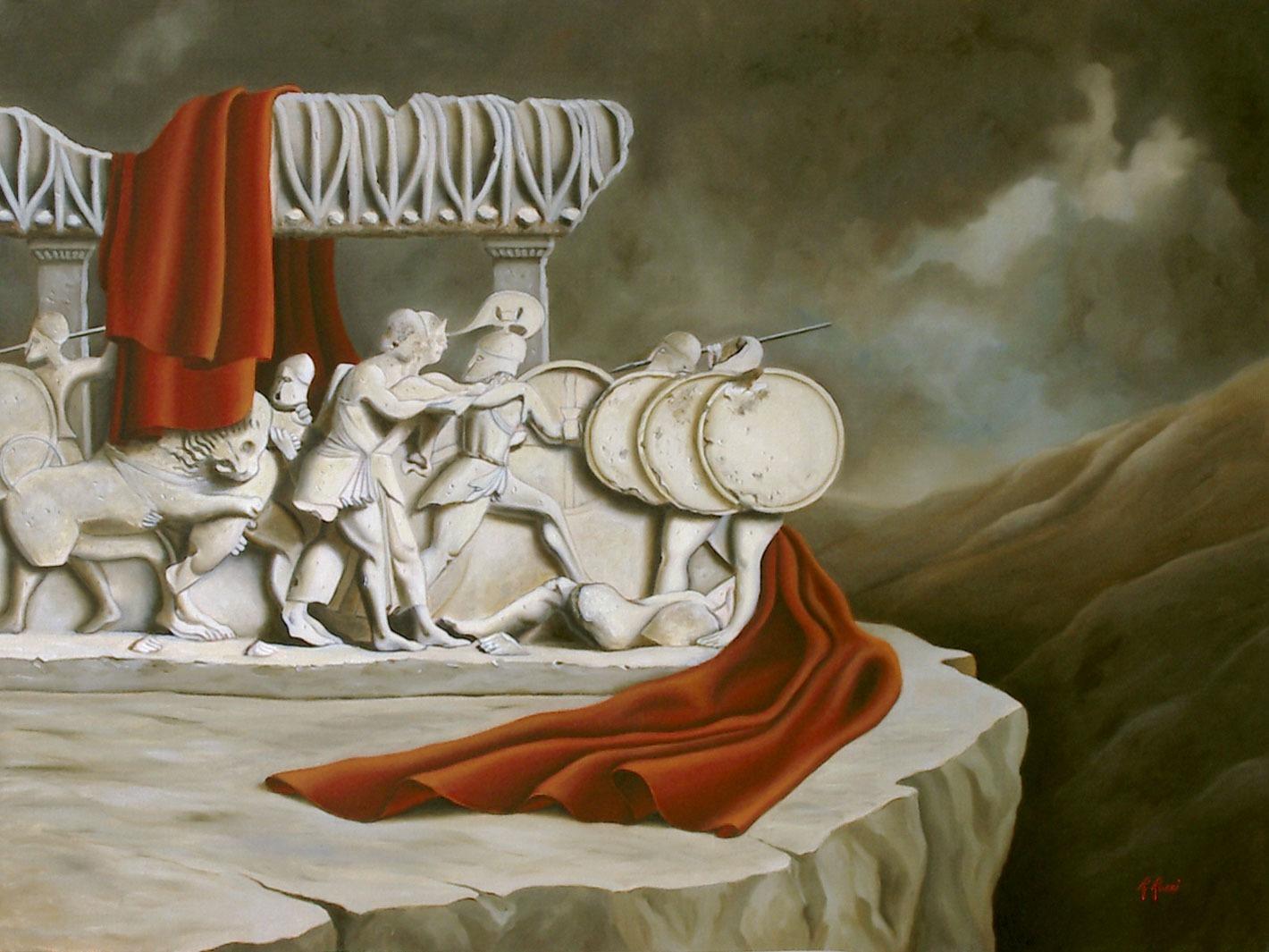 2006 roberta rossi – Lotta tra Giganti e Dei – olio su tela – 60 x 80