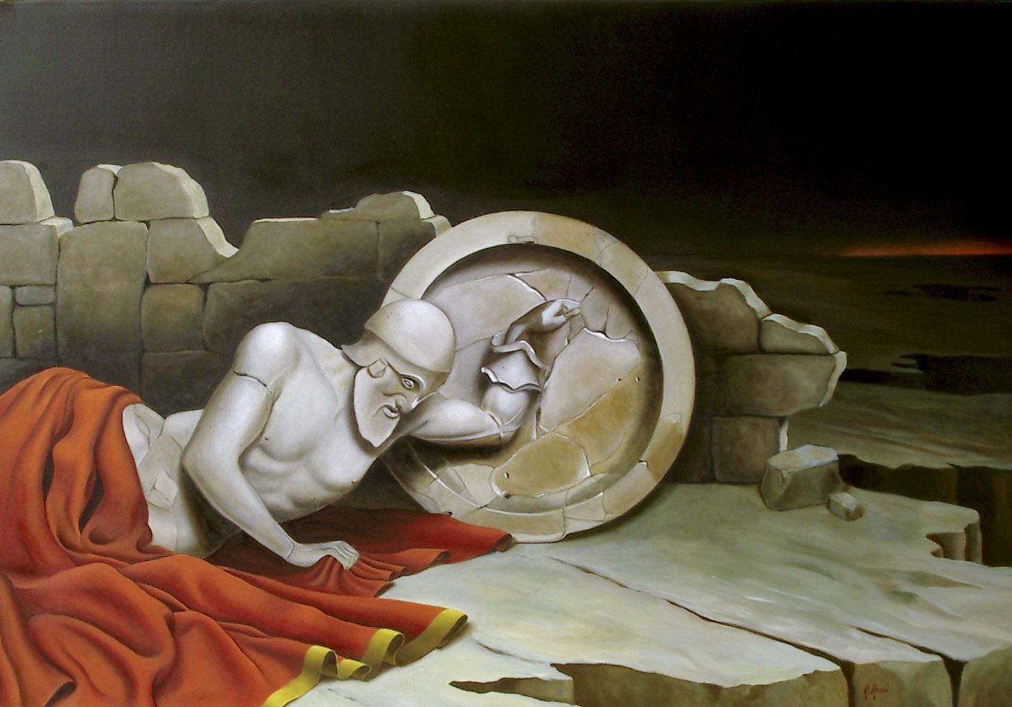 2006 roberta rossi - L'ultima battaglia - olio su tela - 70 x 100