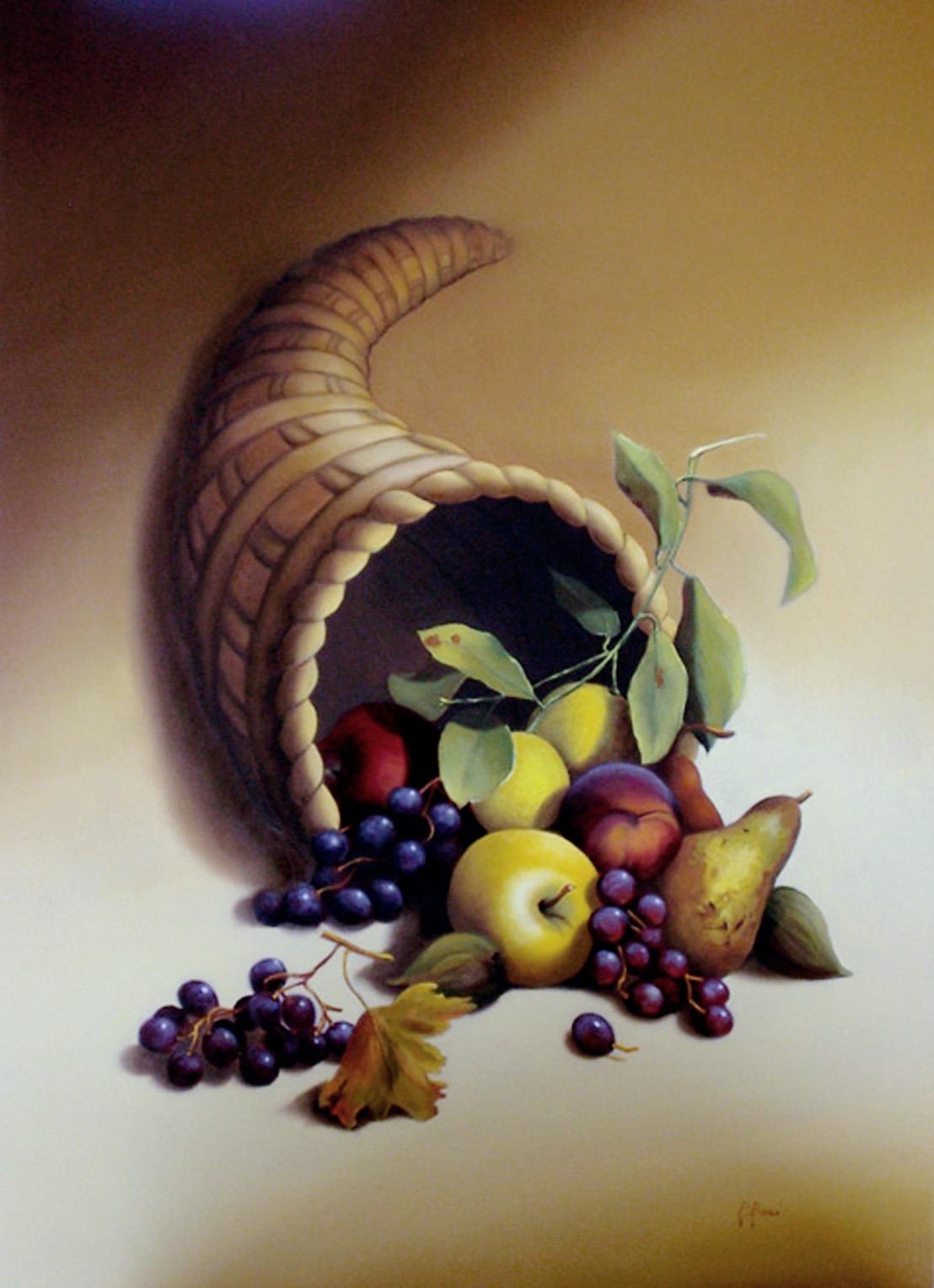 2007 roberta rossi - Cornucopia - olio su tela - 70 x 50