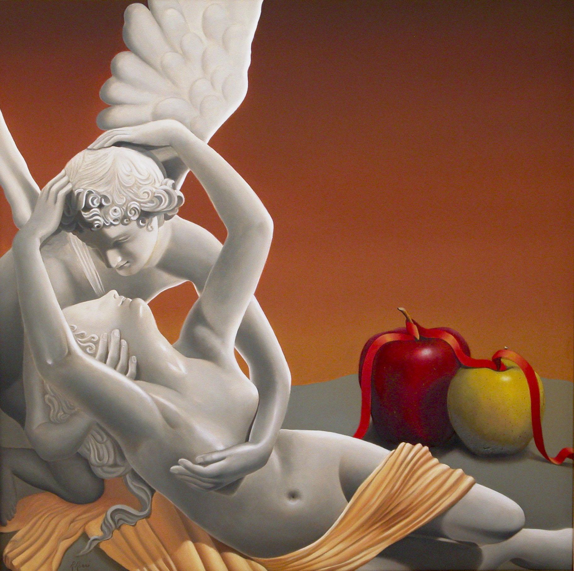 2007 roberta rossi - Eros risveglia Psyche - olio su tela - 60 x 60