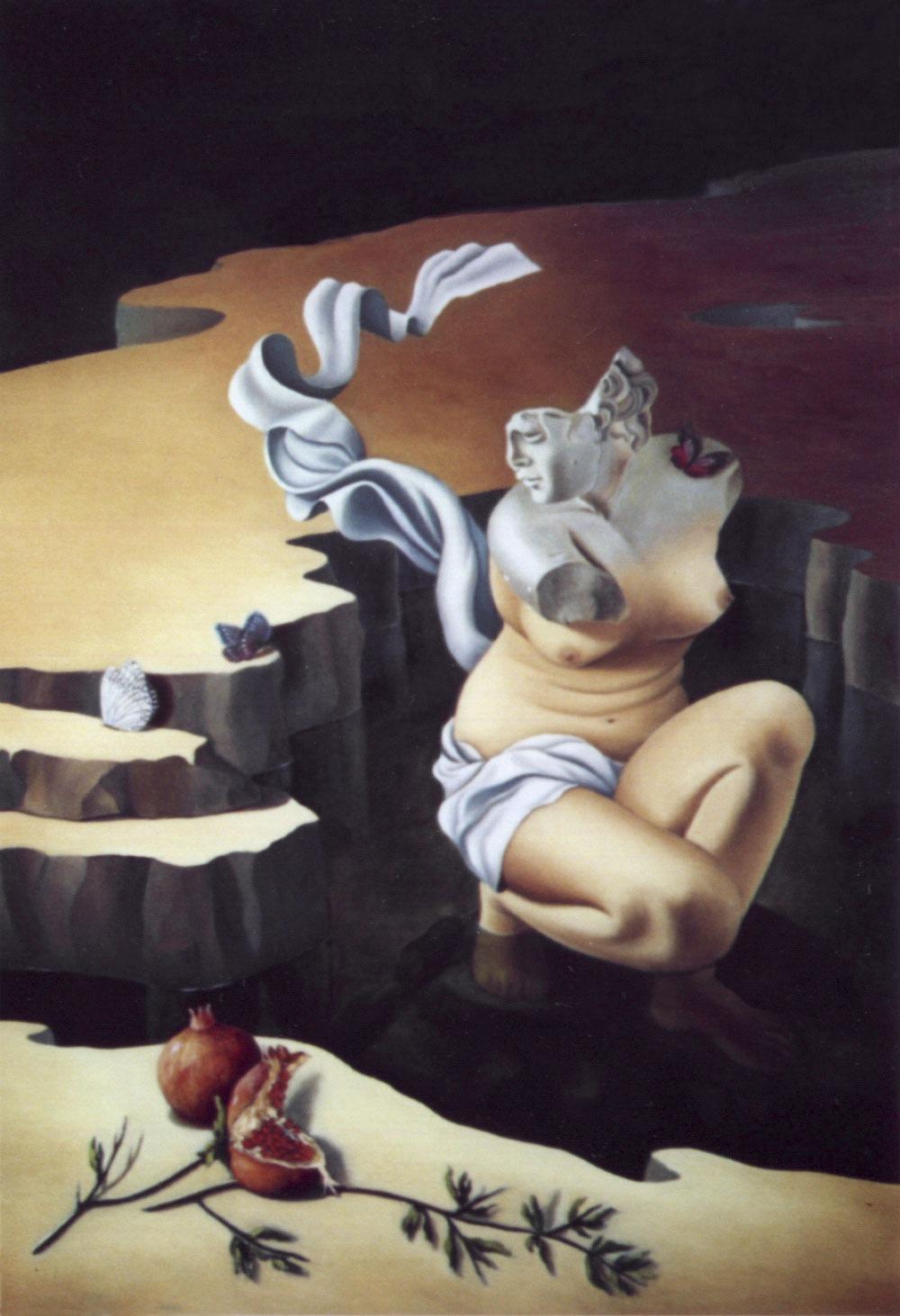 2007 roberta rossi - Il bagno di Afrodite - olio su tela - 100 x 70