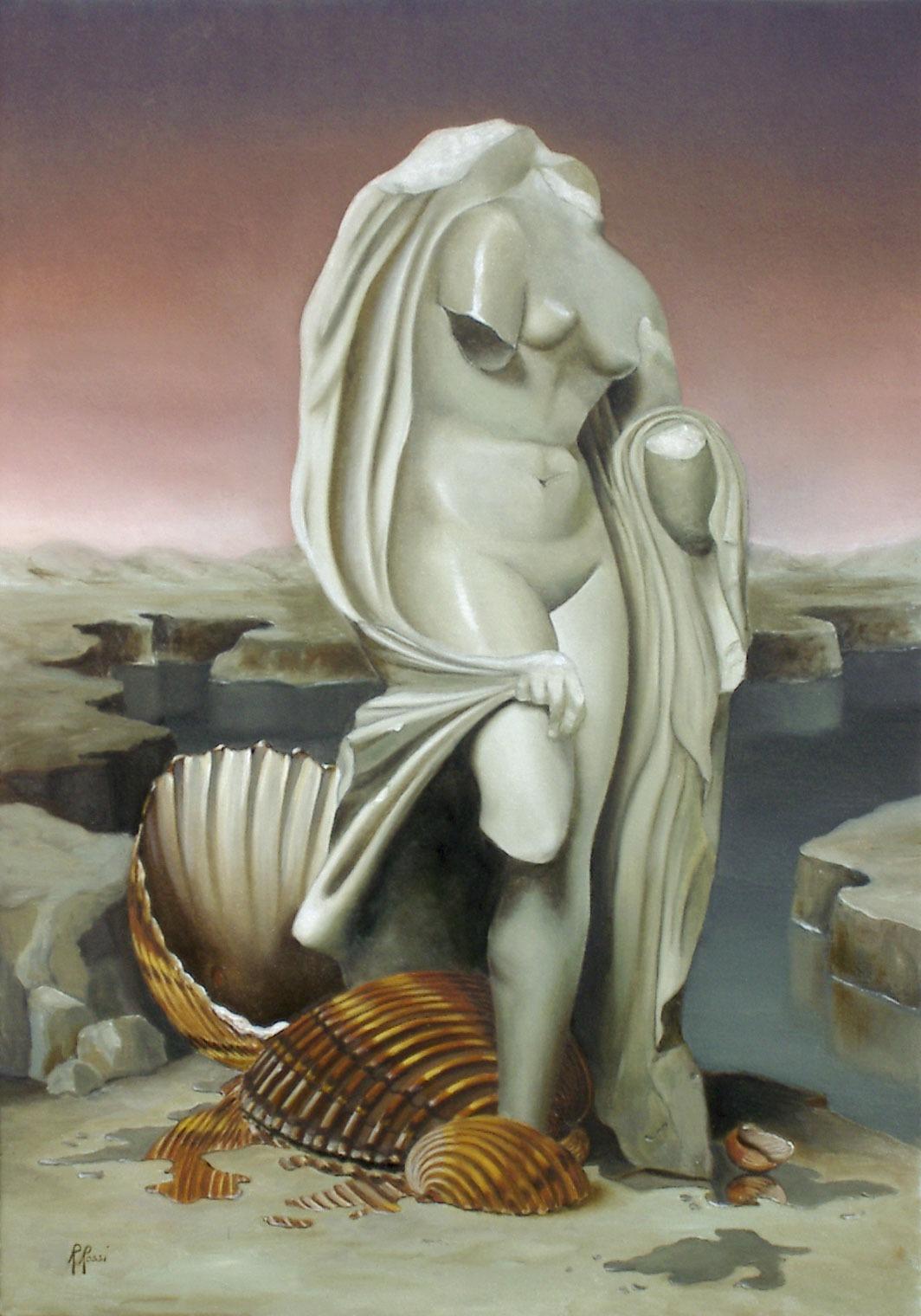 2007 roberta rossi - L'alba di Afrodite - olio su tela - 50 x 35