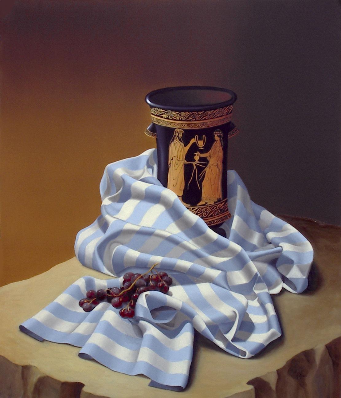 2007 roberta rossi – L'uva di Dioniso – olio su tela – 70 x 60