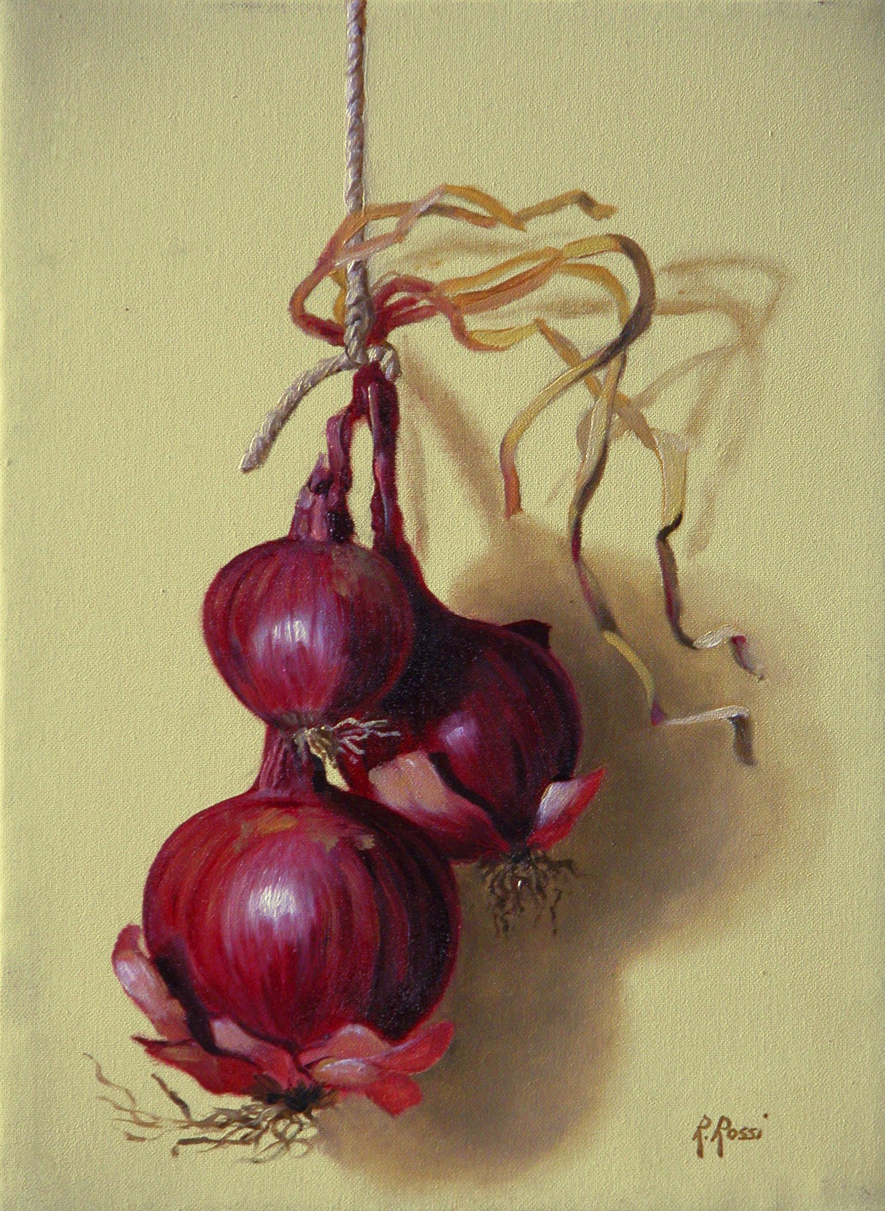 2007 roberta rossi - Tre Cipolle - olio su tela - 24 x 18