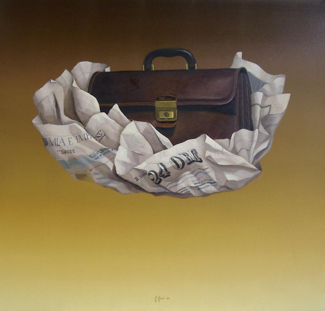 2007 roberta rossi – Vola la Borsa – olio su tela – 70 x 70