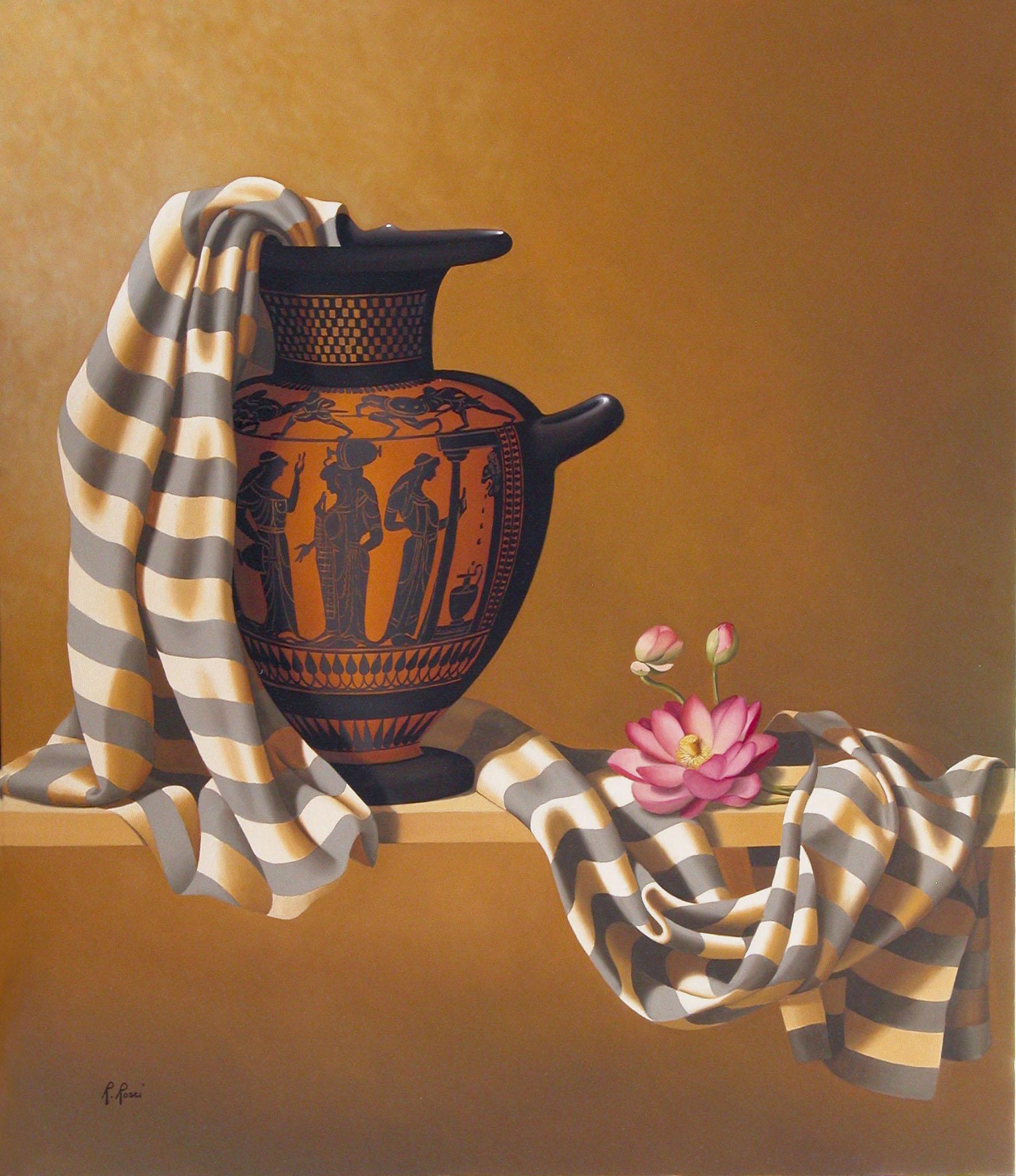 2008 roberta rossi - Donne alla fontana - olio su tela - 70 x 60