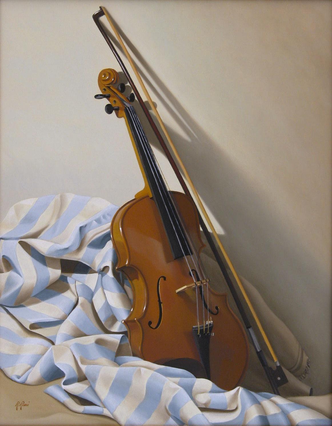 2008 roberta rossi - Dopo il concerto - olio su tela - 50 x 40