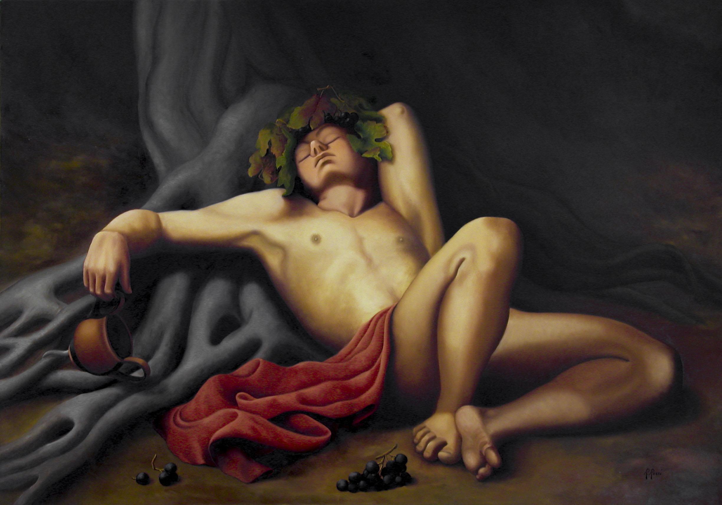 2008 roberta rossi - Il sonno di Dioniso - olio su tela - 70 x 100