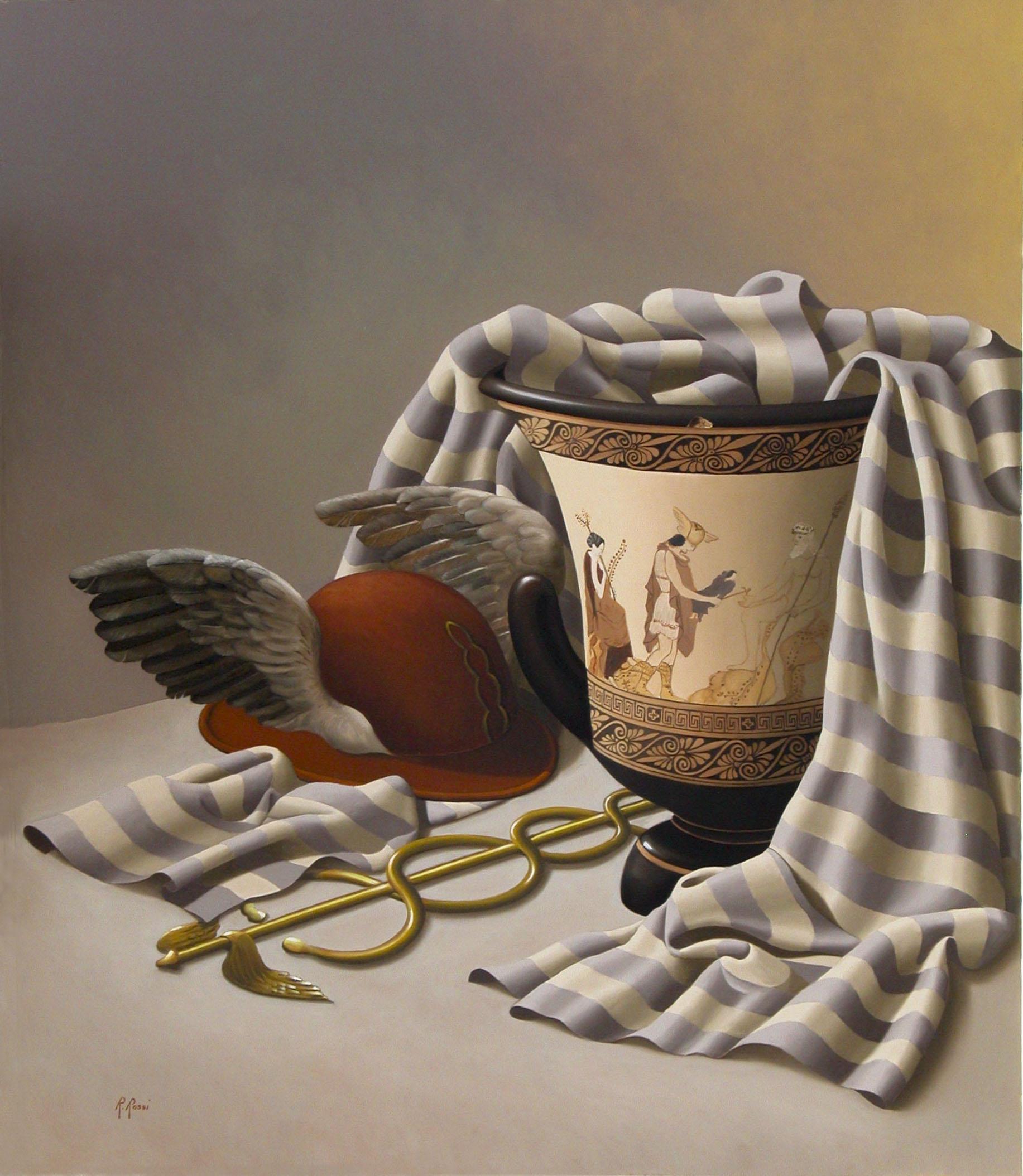 2008 roberta rossi - Le ali di Hermes - olio su tela - 70 x 60
