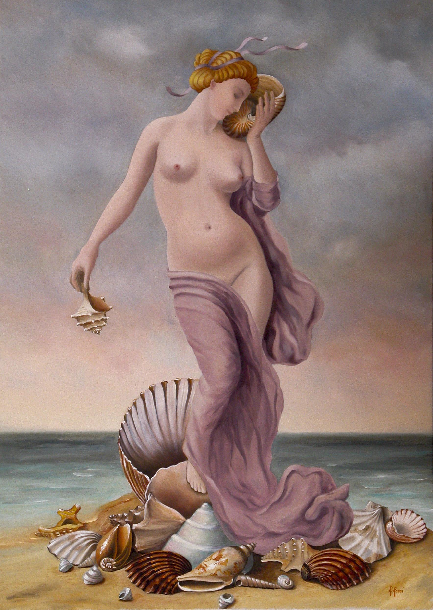 2008 roberta rossi - Le conchiglie di Afrodite - olio su tela - 70 x 50