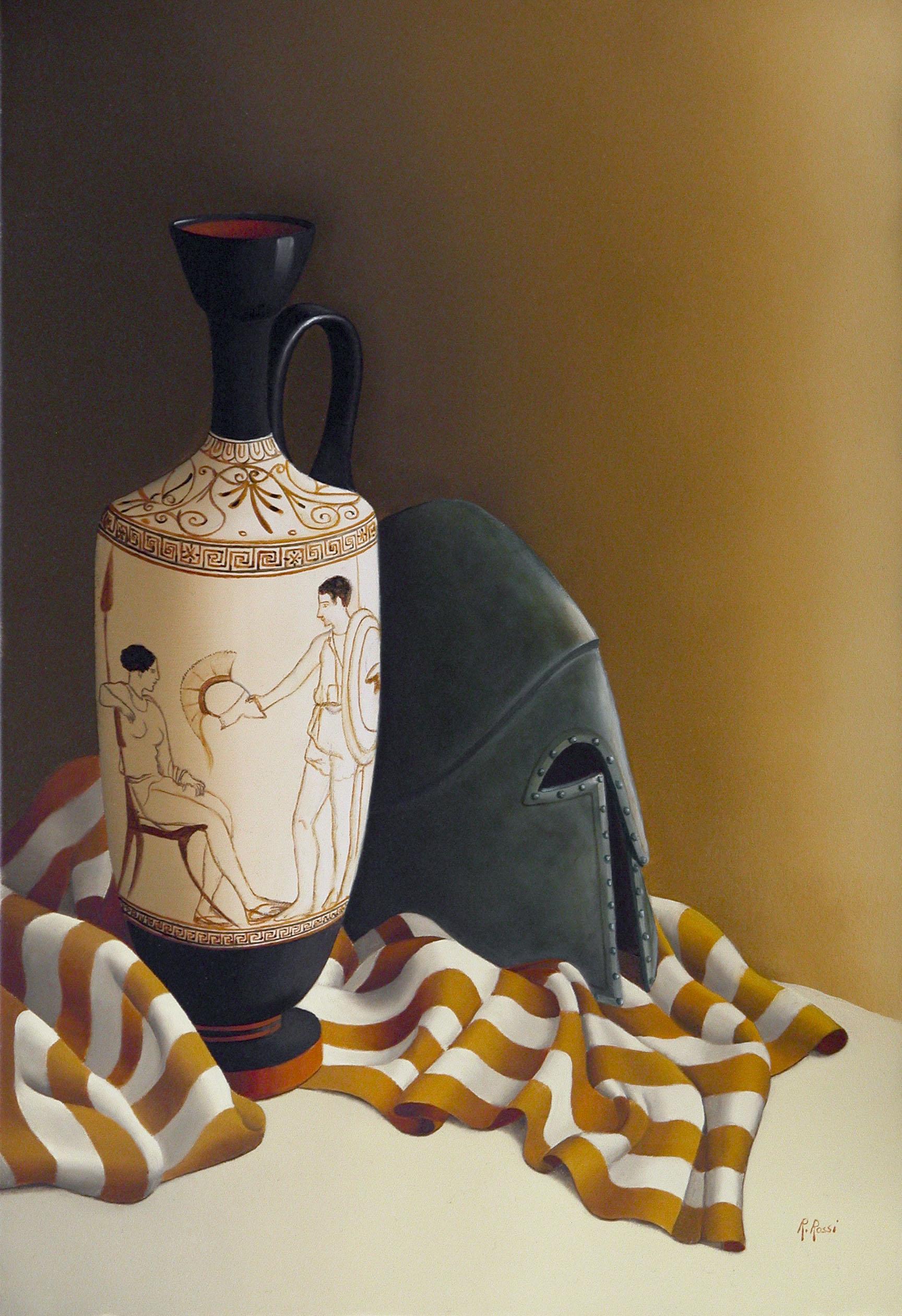 2008 roberta rossi - Partenza del guerriero - olio su tela - 50 x 34