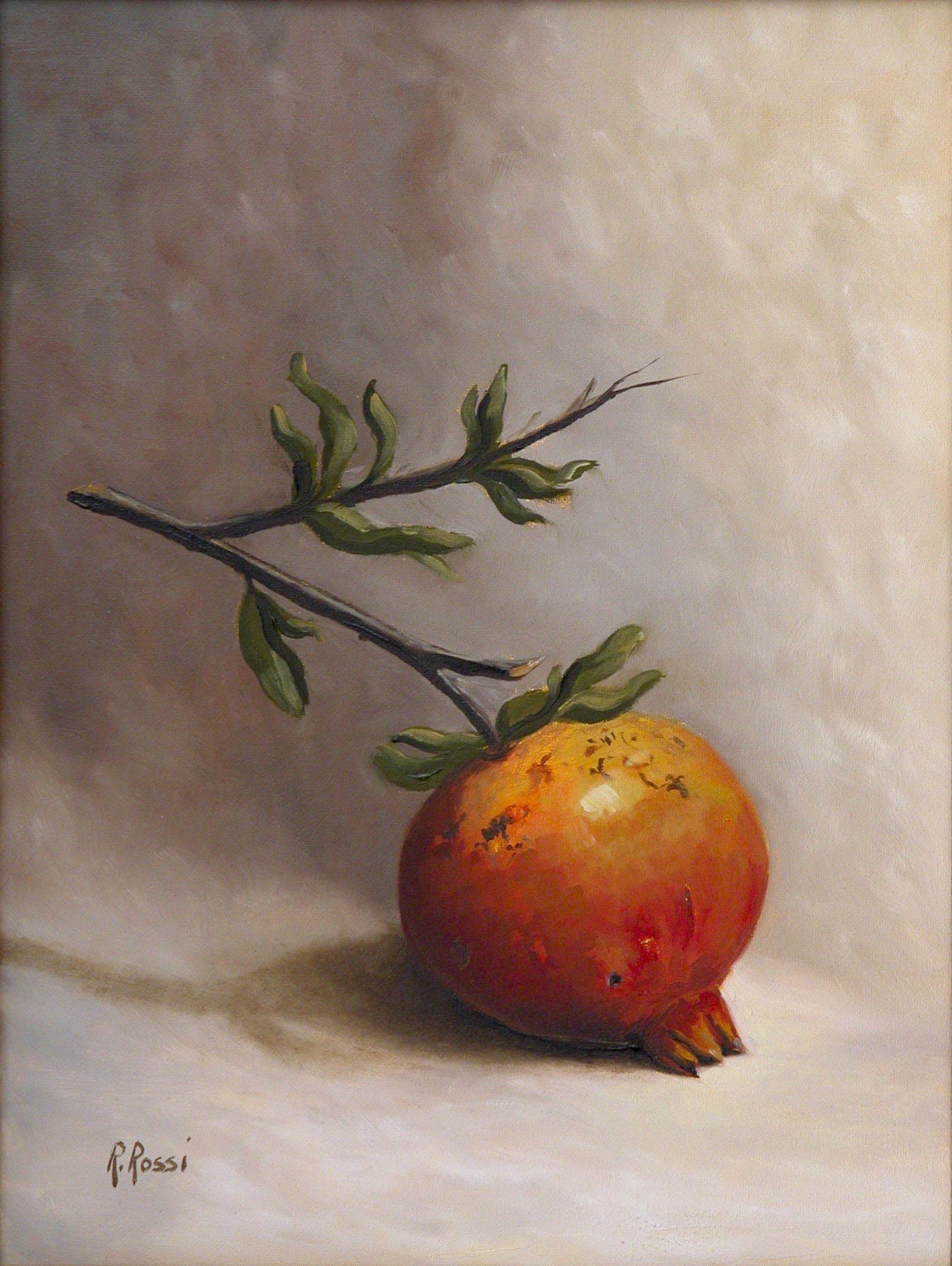 2008 roberta rossi - Piccolo Melograno 2 - olio su tela - 24 x 18