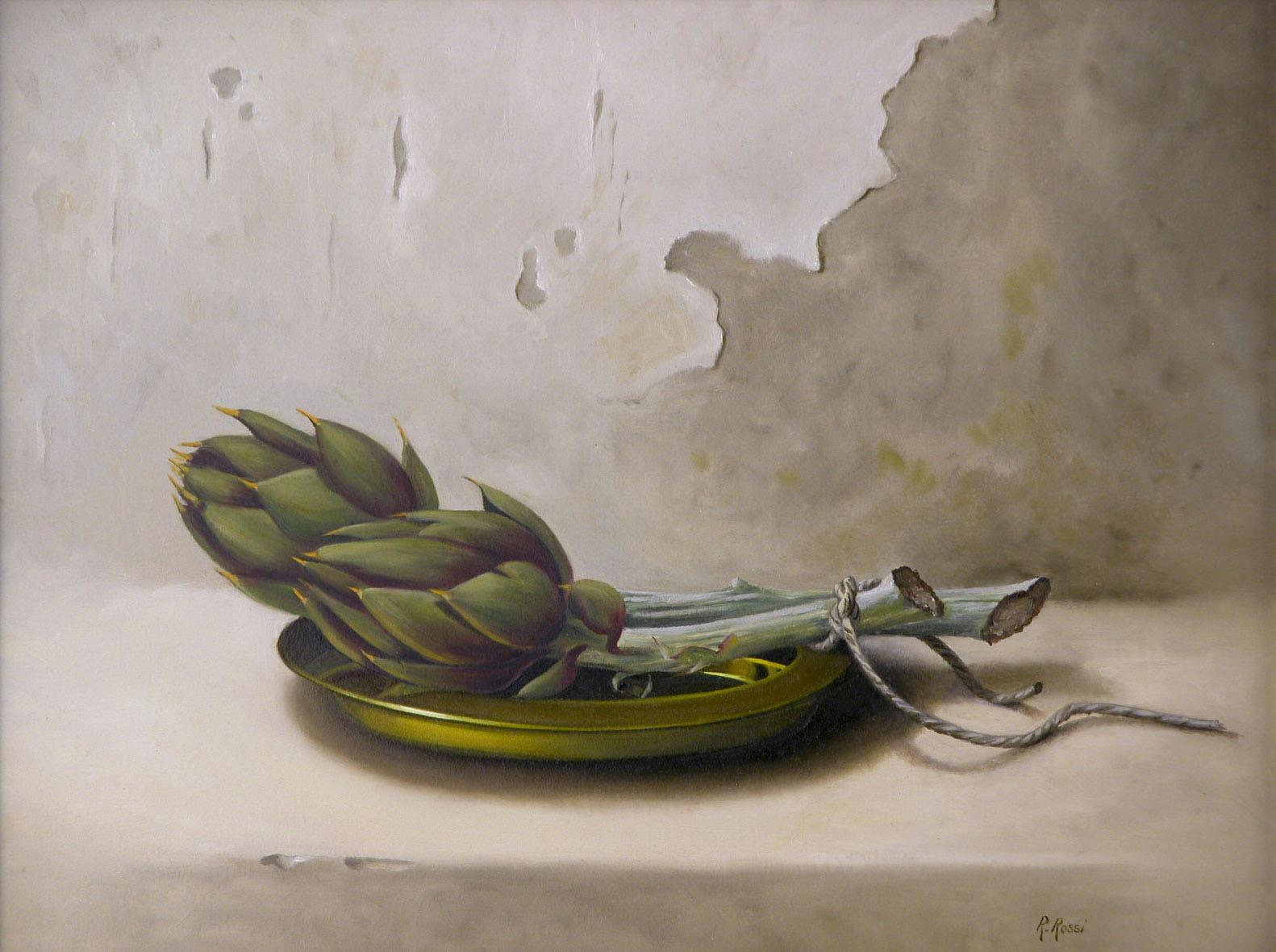 2009 roberta rossi - Allacciati - olio su tela - 36 x 46
