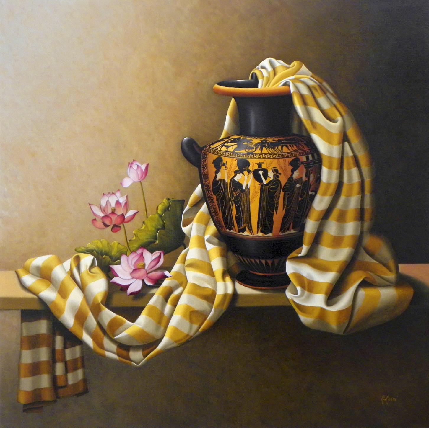 2009 roberta rossi - Fanciulle alla fonte - olio su tela - 70 x 70