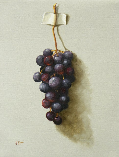 2009 roberta rossi - il bel grappolo - olio su tela - 24 x 18