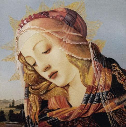 2009 roberta rossi - madonna del magnificat - olio su tavola - 25 x 25