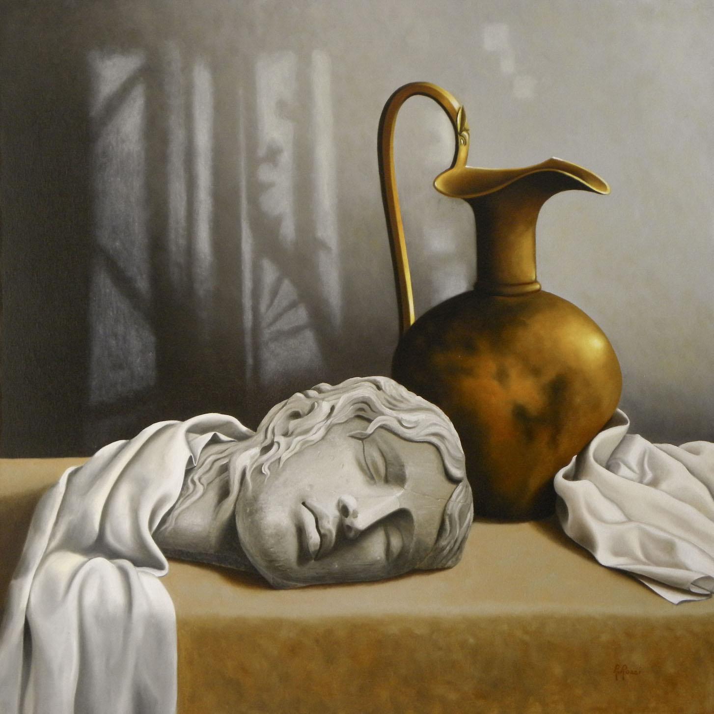 2010 roberta rossi - erinni dormiente - olio su tela - 60 x 60 -