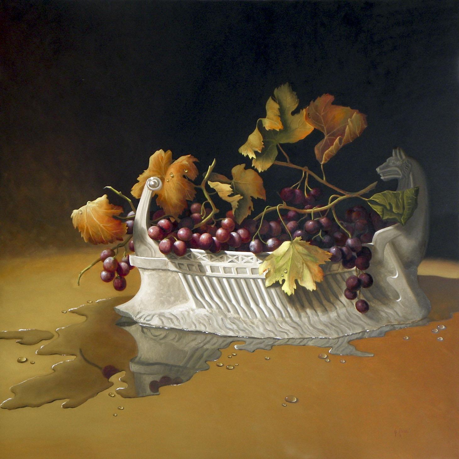 2010 roberta rossi - la nave di dioniso - olio su tela - 70 x 70