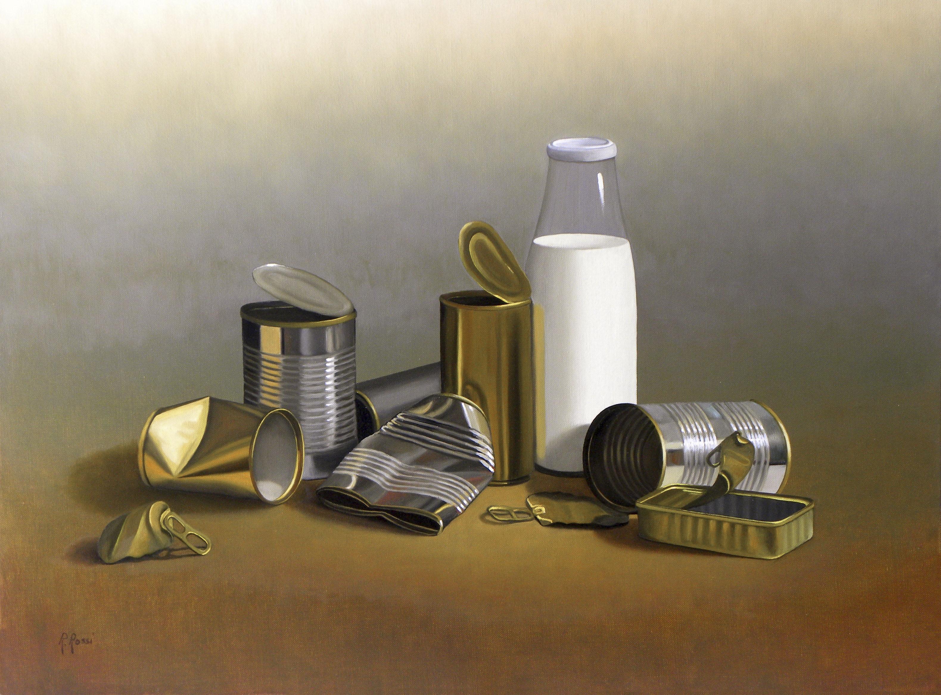 2012 roberta rossi - latte e latte - olio su tela - 50 x 70
