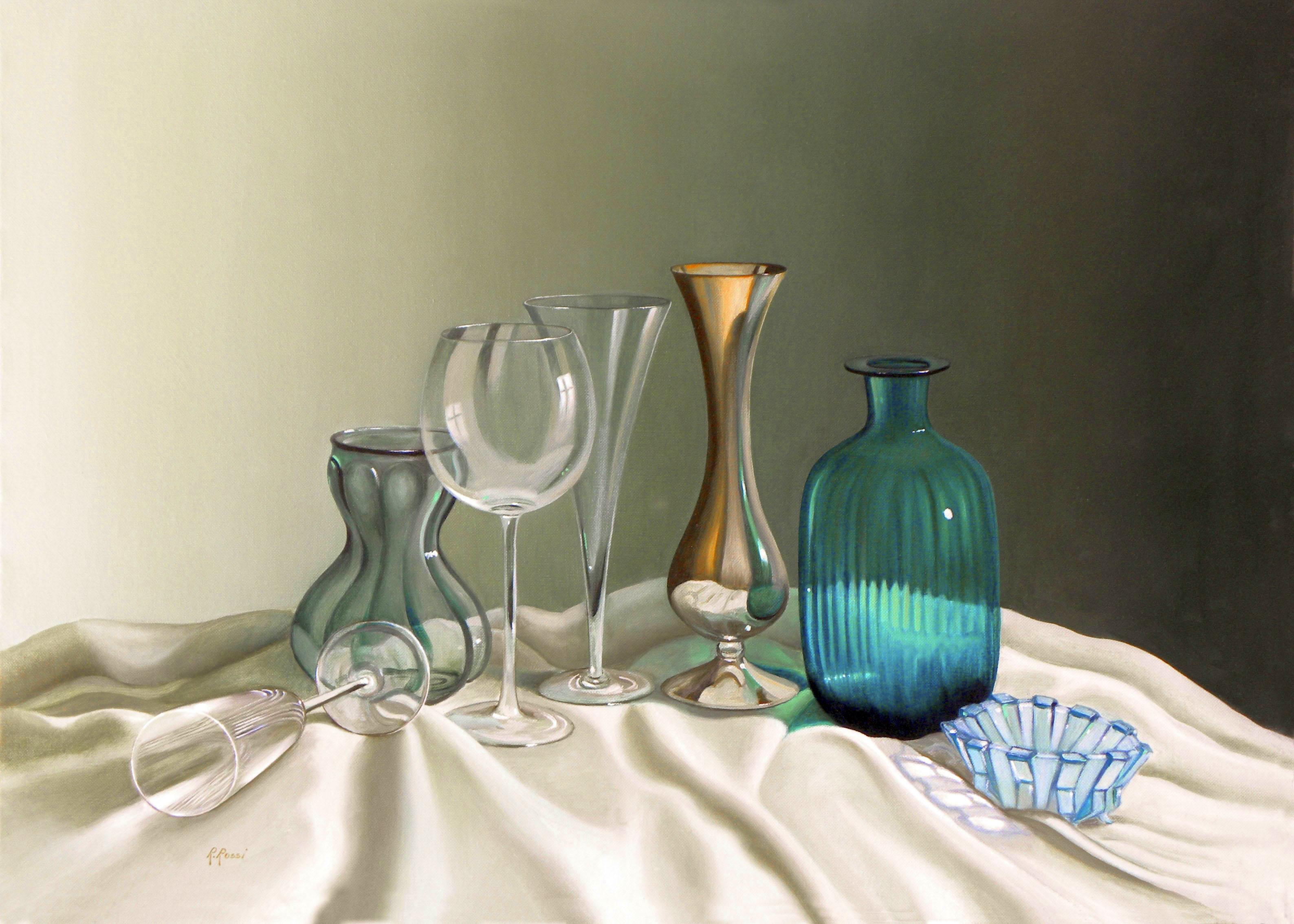 2012 roberta rossi - seducenti trasparenze - olio su tela - 50 x 70