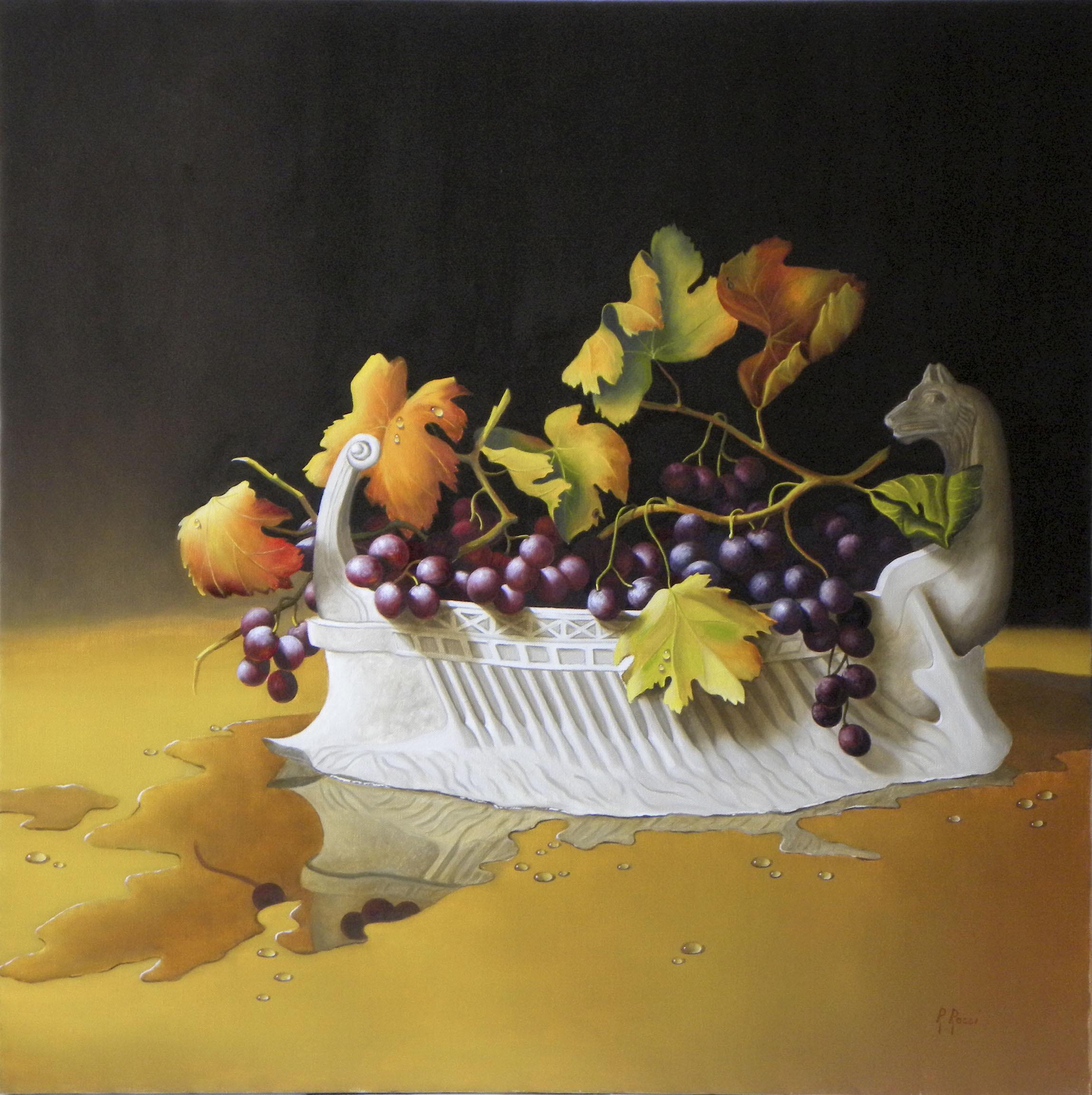 2012 roberta rossi - uva di dioniso - olio su tela - 70 x 70