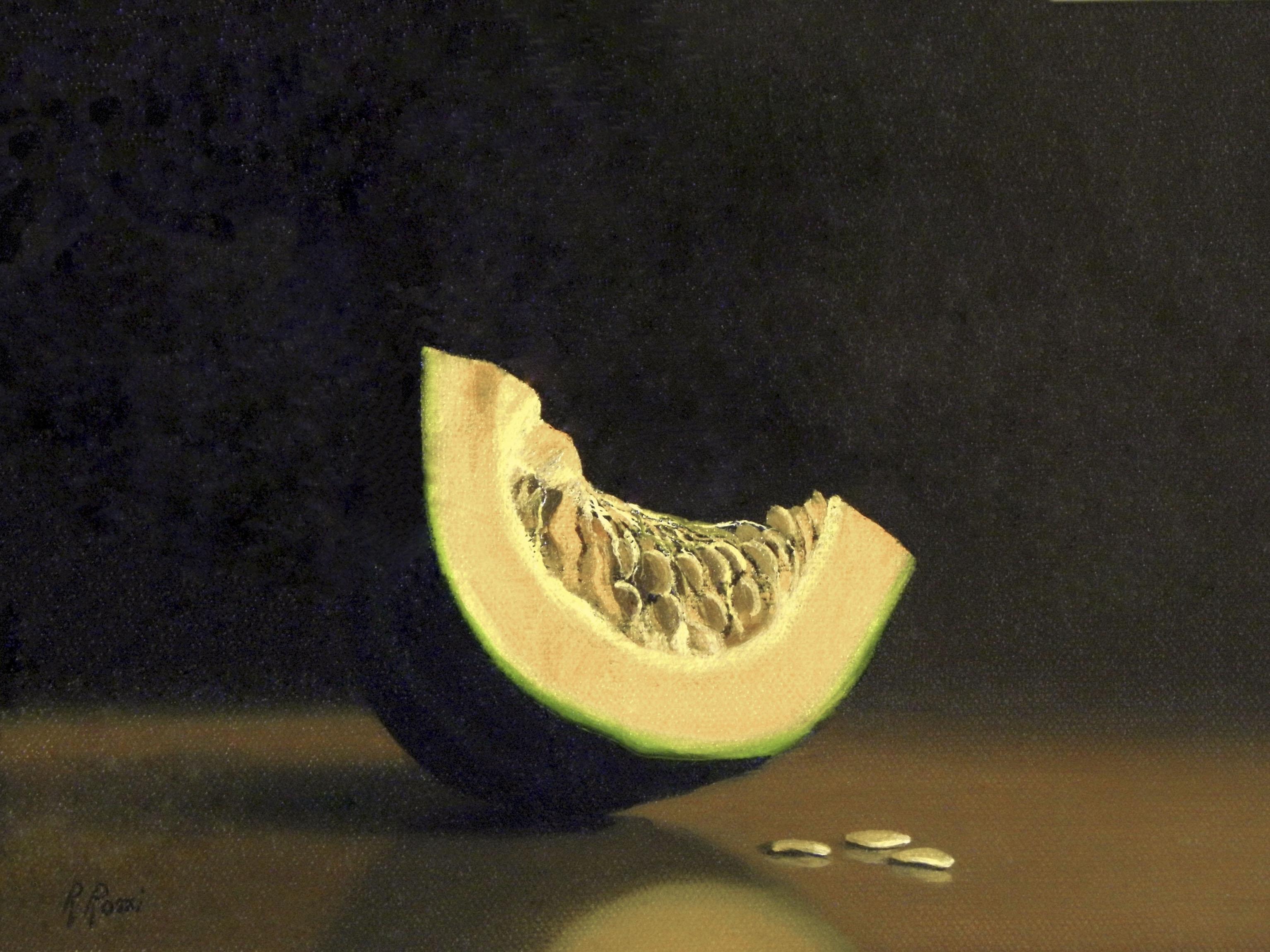 2013 roberta rossi – Zucca e semi – olio su tela applicata a cartone – 18 x 24