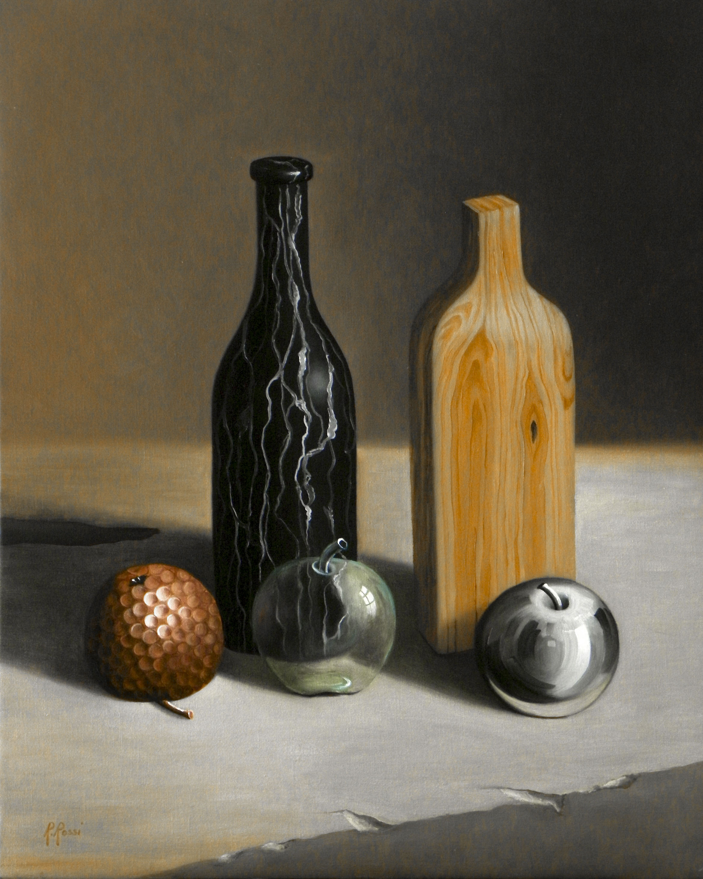 2014 roberta rossi - Composizione surreale 2014 - olio su tela di lino - 50 x 40