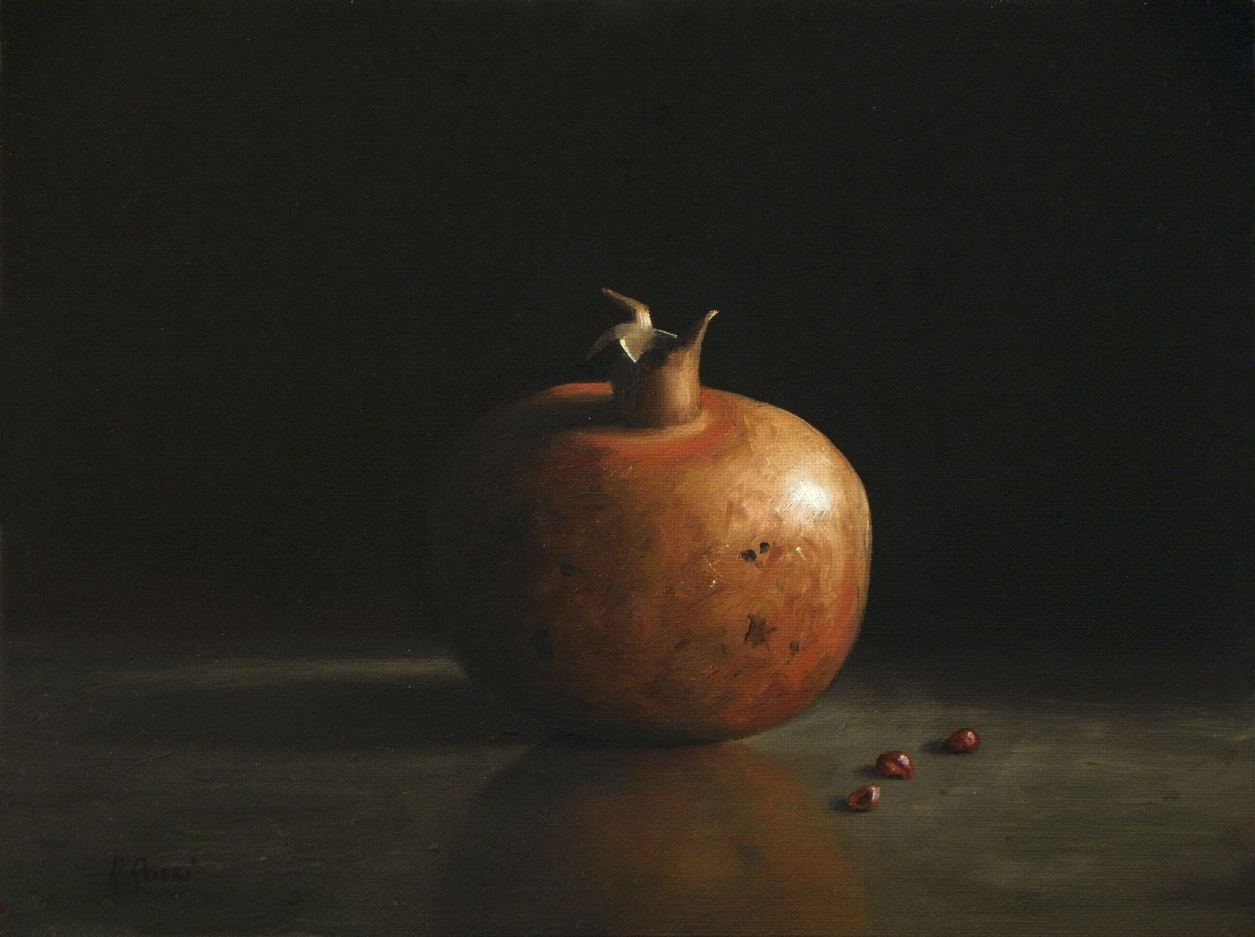 2014 roberta rossi - Frutto e semi - olio su tavola - 18 x 24