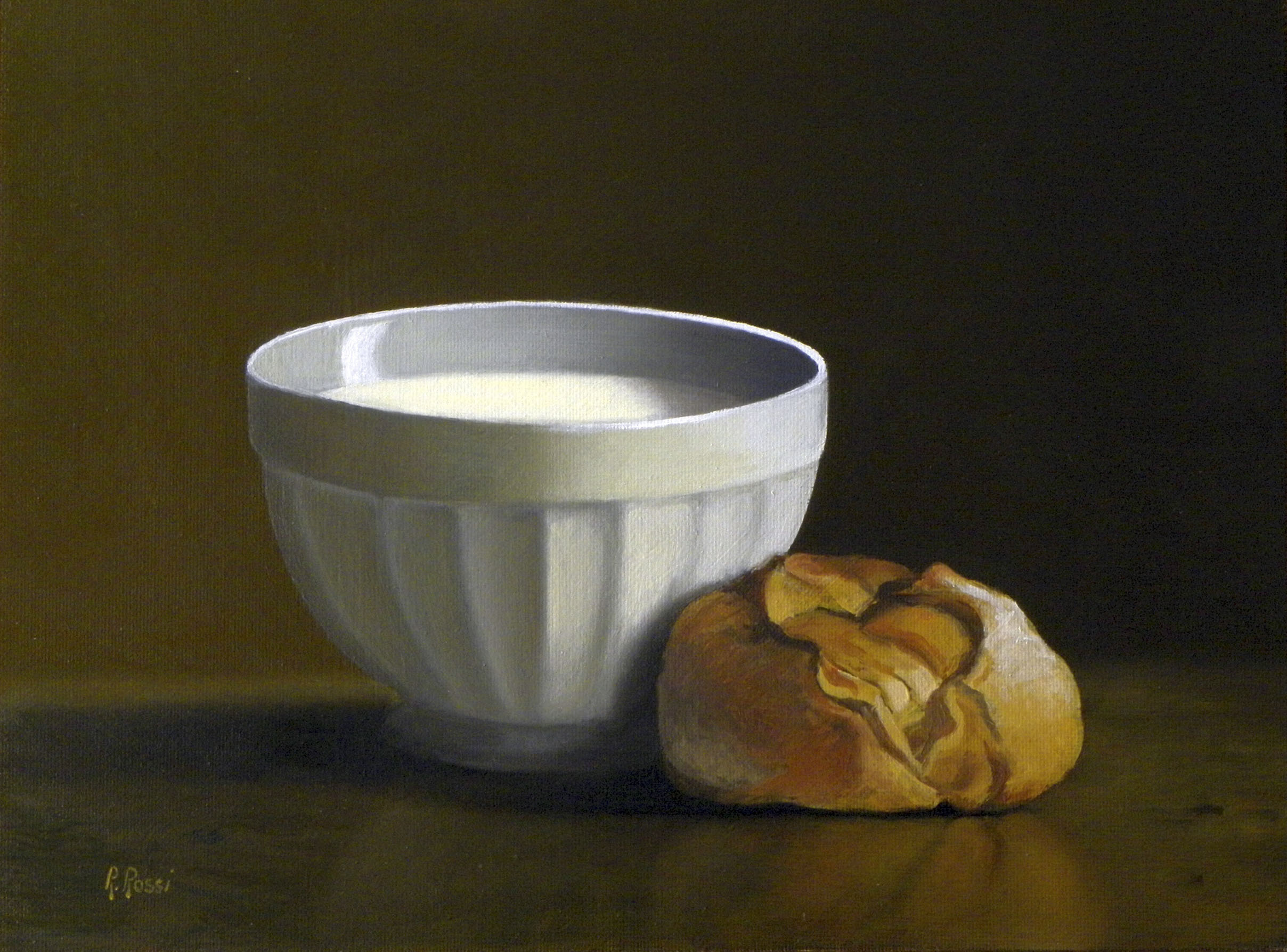 2014 roberta rossi - La buona colazione - olio su tavola - 18 x 24