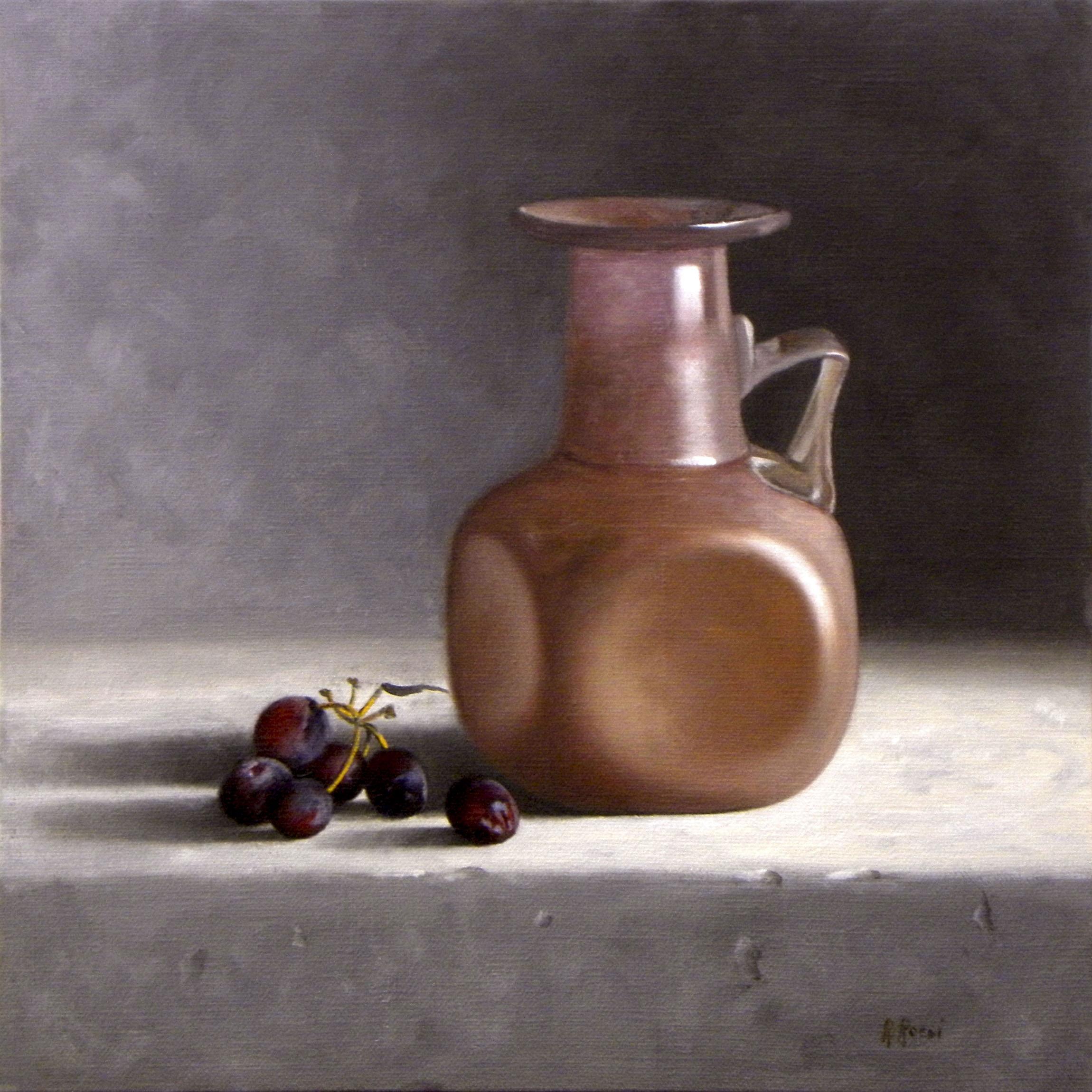 2014 roberta rossi - murano nello studio - olio su tela applicata a cartone - 30 x 30