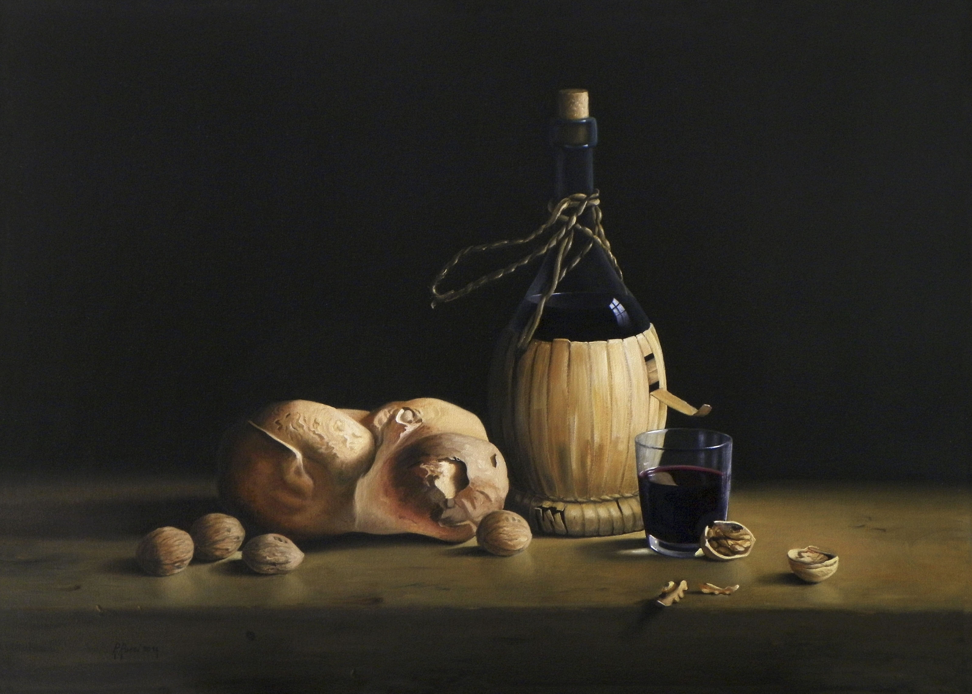 2014 roberta rossi - una lieta merenda - olio su tela - 50 x 70