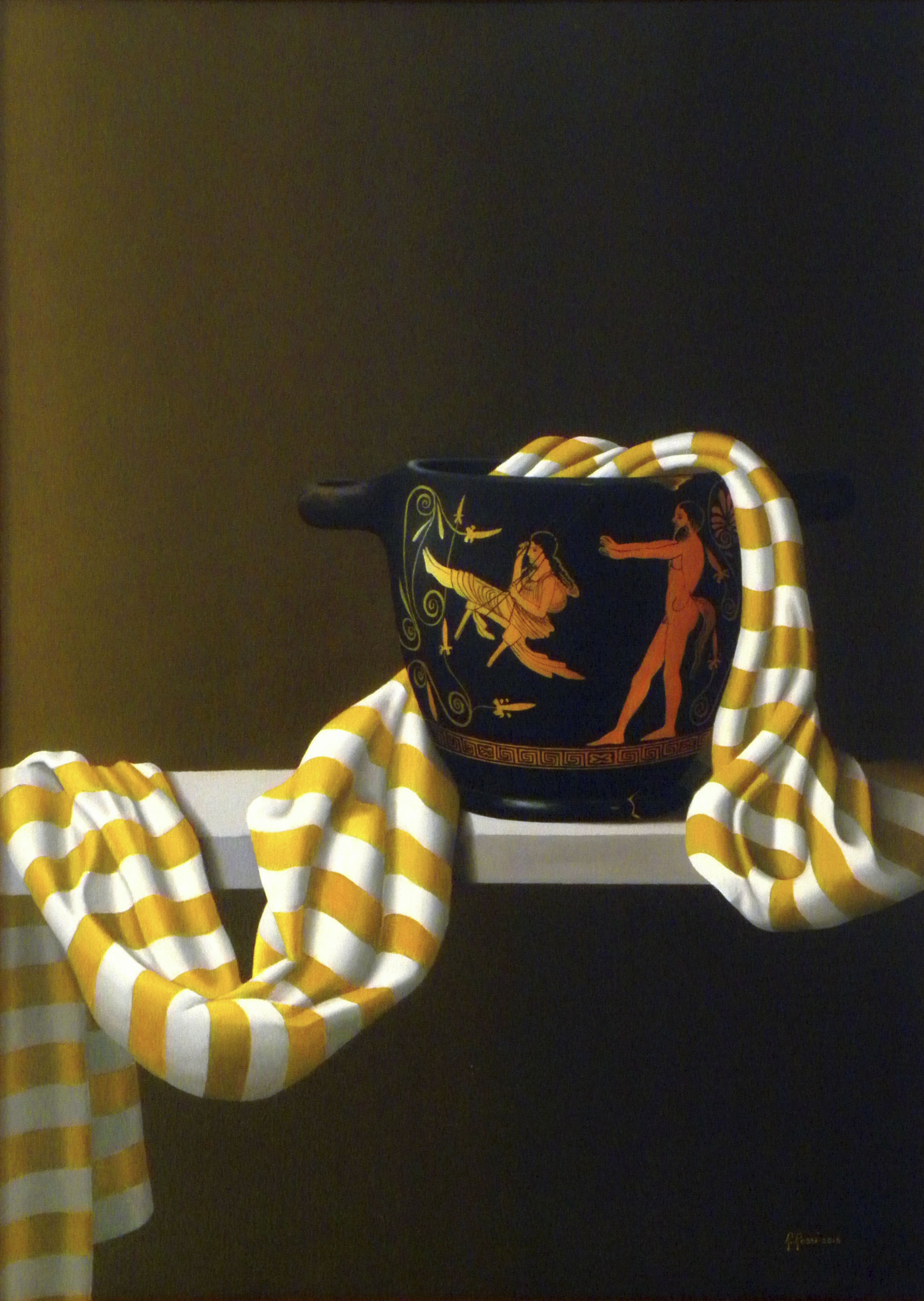 2015 roberta rossi - il mito dell'altalena - olio su tela di lino - 70 x 50